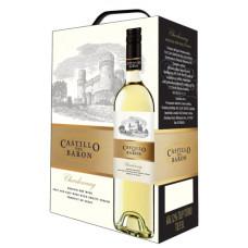 """Vīns """"Castillo del Baron Chardonnay"""" 12% BIB 3.0L pussauss baltvīns%"""