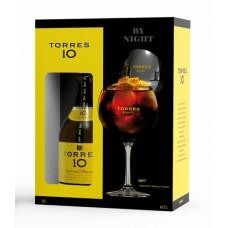 """Brendijs """"Torres 10 + Balloon Glass"""" 38% 0.7L"""