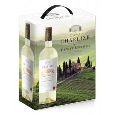 "Vīns ""Casa Charlize Pinot Grigio Terre Siciliane IGT"" 12% 3.00L puss. Balts"