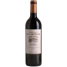 """Vîns """"Chateau du Cartillon Haut-Medoc"""" 14% 0.75L sauss sarkans%"""